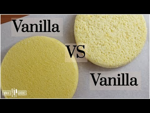 The Science Of BAKING CAKES - Vanilla Sponge Cake VS Vanilla Butter Cake