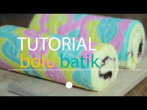 Tutorial Bolu Gulung Batik