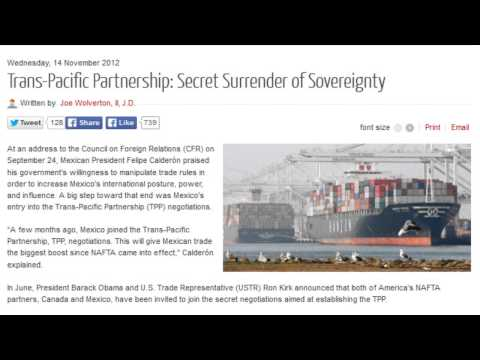Trans-Pacific Partnership: Secret Surrender of Sovereignty
