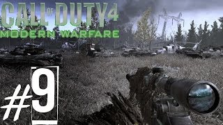 Call of Duty 4 Modern Warfare 9 Mission : All Ghillied Up Sniper Mission Gameplay