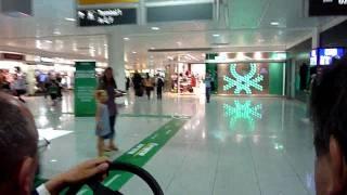 A la carrera en el aeropuerto de Munich