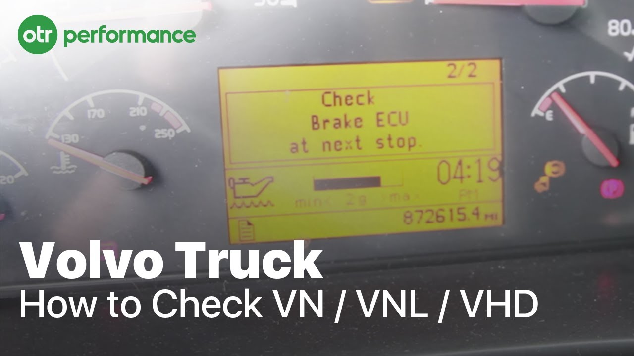 volvo truck fault codes how to check vn vnl vhd otr performance youtube [ 1280 x 720 Pixel ]
