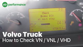 volvo truck fault codes how to check vn vnl vhd   otr performance