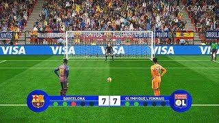 FC BARCELONA VS LYON | UEFA Champions League - UCL | Penalty Shootout | PES 2019