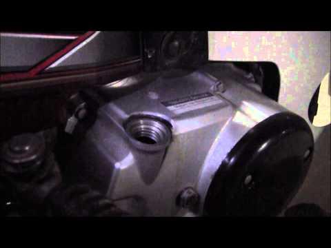 Motocross Engine Oil On Honda EX5 DREAM