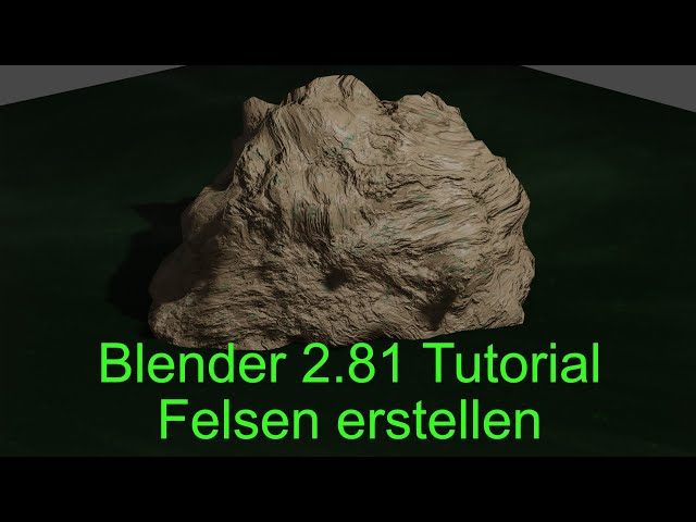 Blender 2 81 Material Editor Tutorial Felsen deutsch