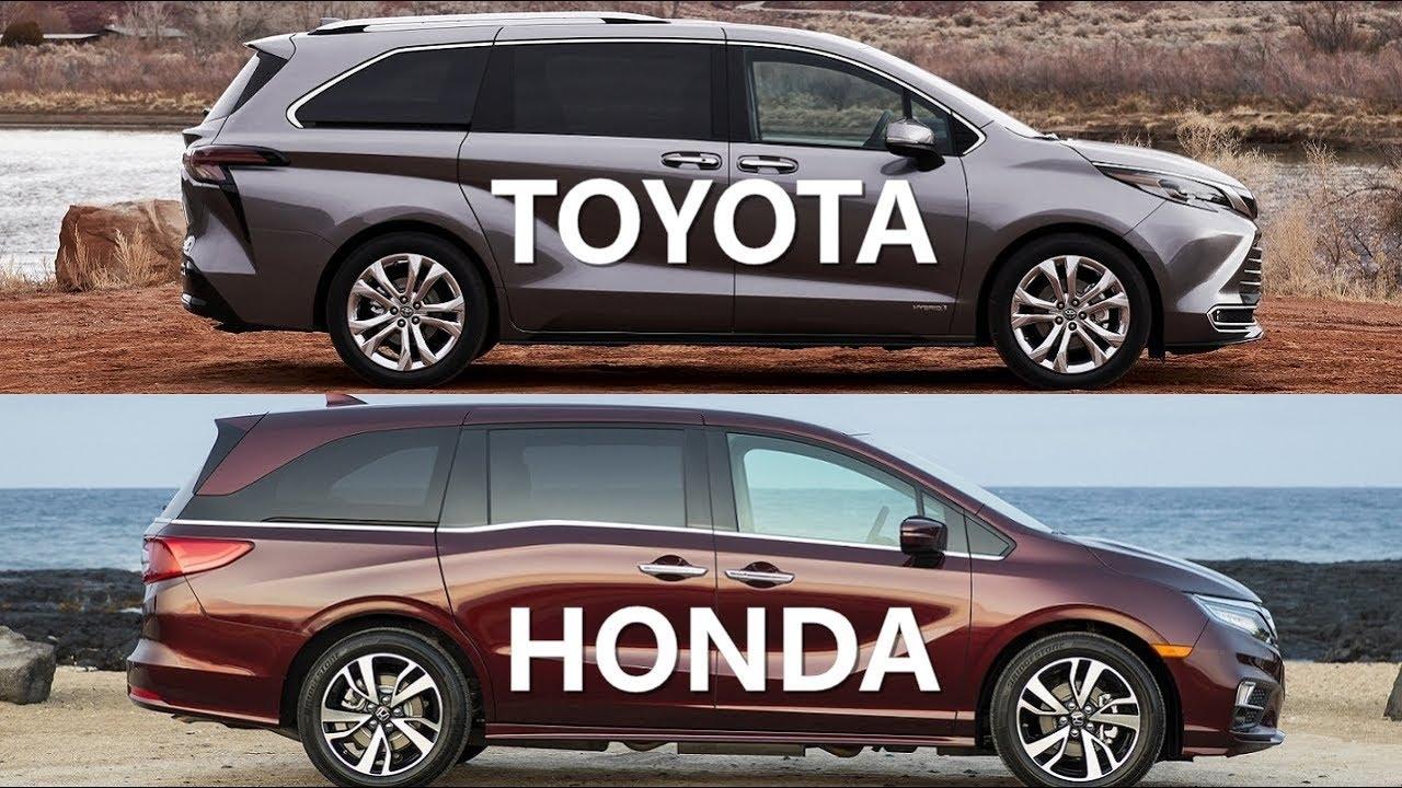 2021 toyota sienna vs honda odyssey minivan youtube 2021 toyota sienna vs honda odyssey minivan