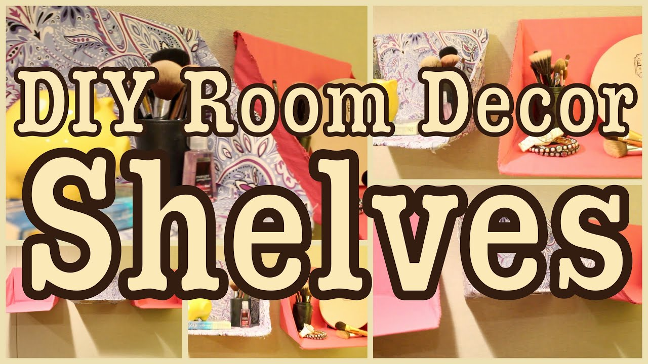 diy room decor shelves great for any room youtube - Bedroom Diy Decor