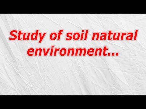Study of soil natural environment (CodyCross Crossword Answer)