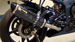 BEST ROCKET EXHAUST!  Yamaha R6 - TWO BROTHERS!
