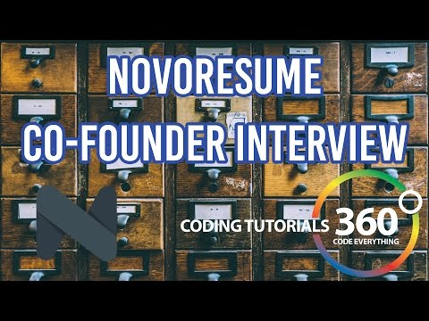 Developer, Co-Founder and Head of Product Development of NovoResume Interview with Stefan Polexe