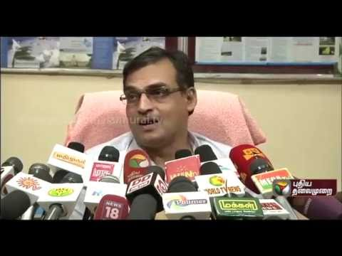 Regional Meteorological Director Balachandran addressing reporters about the latest weather update