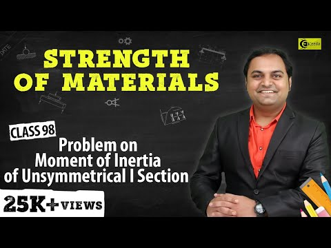 Problem No 2 on Moment of Inertia of Unsymmetrical I-section