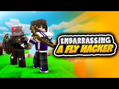 EMBARRASSING A FLY HACKER! (Minecraft Team Skywars)