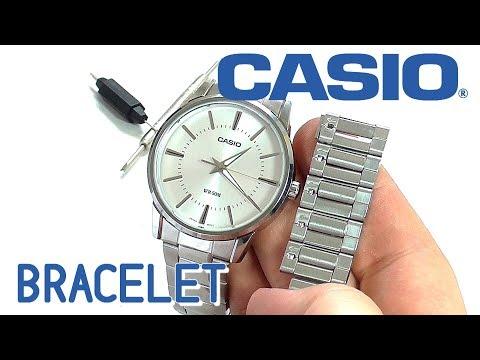 Как уменьшить браслет на часах касио