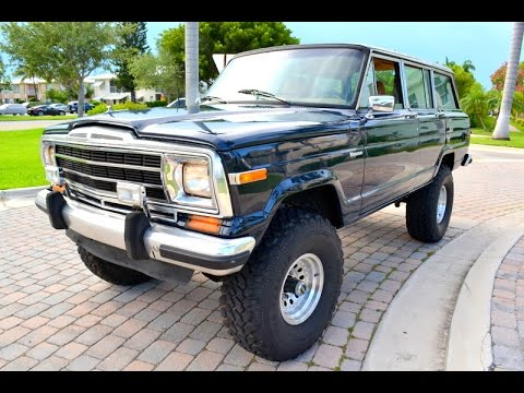 Jeep Wagoneer For Sale >> 1986 Jeep Grand Wagoneer For Sale Real Nice 954 394 6581 Youtube
