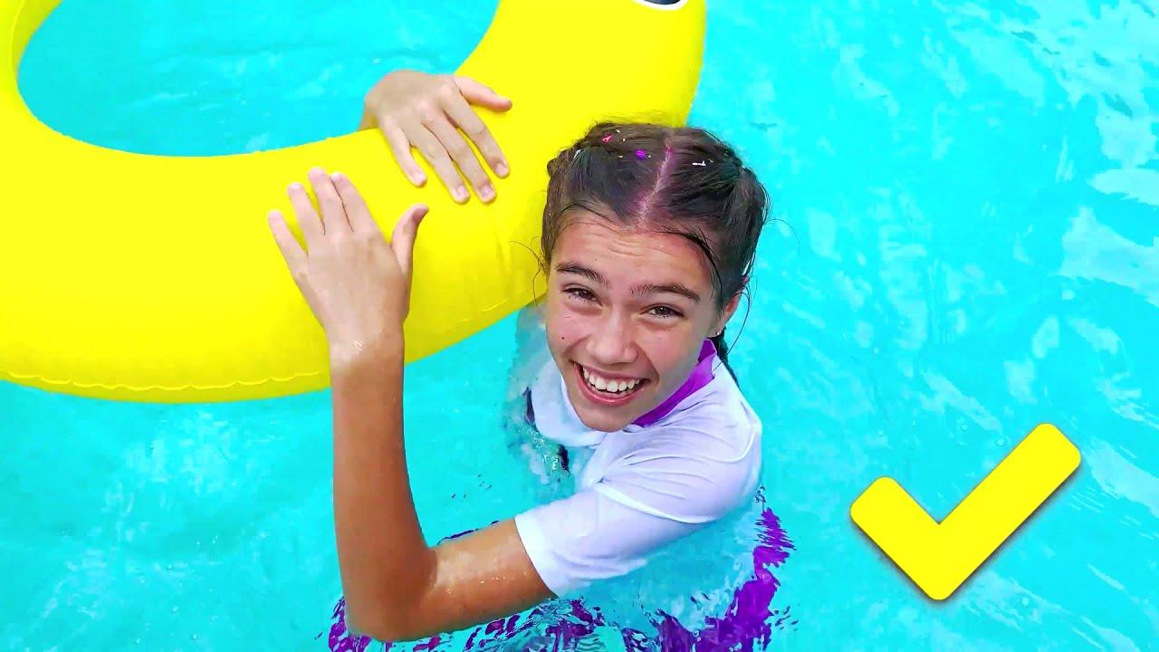 Настя и Артем история для детей про то как правильно плавать в бассейне. Лучишй сборник про Настю