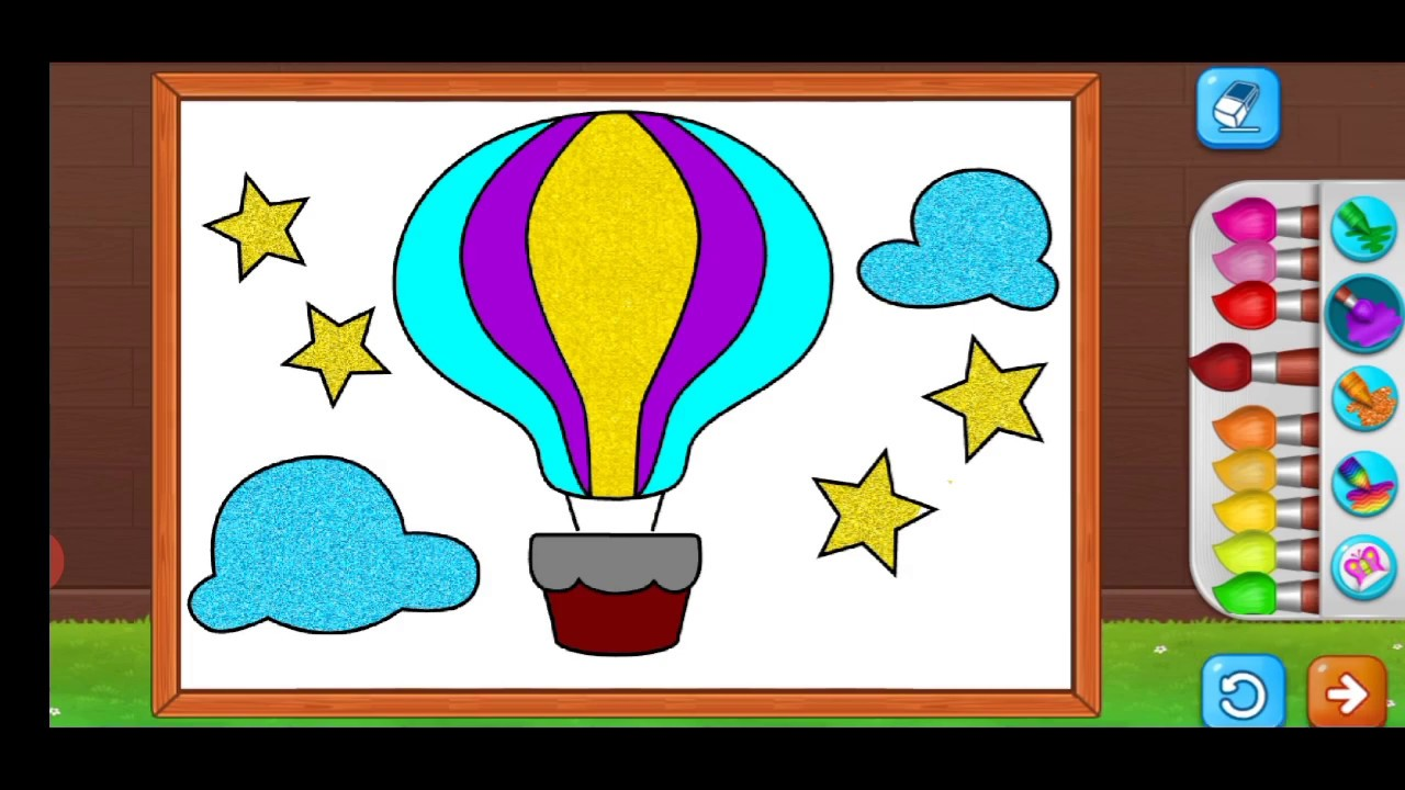parachute coloring for kids Coloring Games For Kids To ...