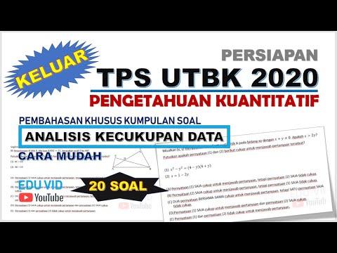 Soal TPS UTBK 2020 - Pengetahuan Kuantitatif tipe Analisis ...