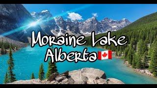 Moraine Lake Alberta Canada Summer Sky