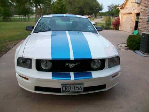 Blue Mustang gt White Mustang gt With Blue