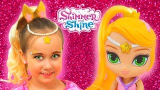Shimmer and Shine Leah Costume & Kids Makeup Julia pretend genie