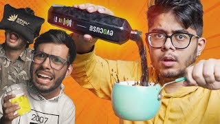 DRINKING BLACK WATER! 🤢 | Trying Expensive Water Brands Ft. @FING