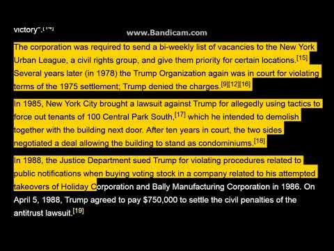 3,500 Legal Affairs Of Donald Trump