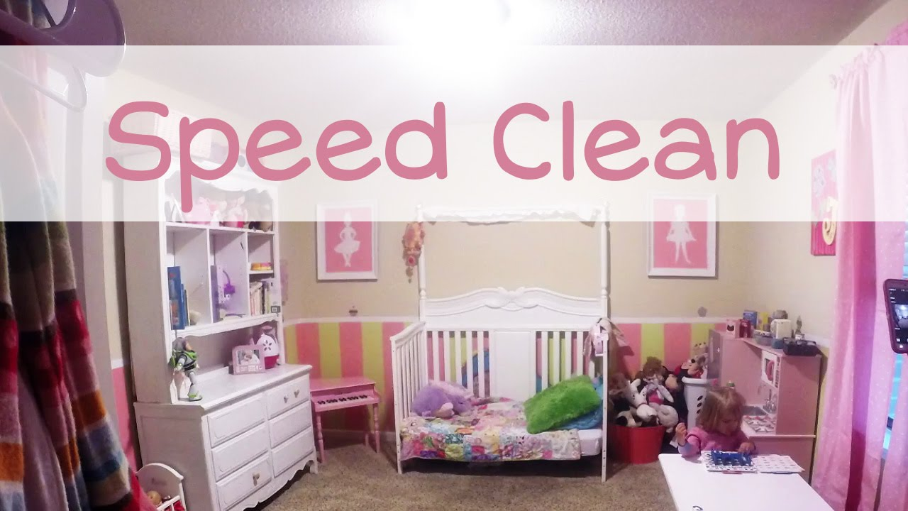 speed cleaning toddlers room - youtube