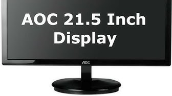 """AOC 21.5"""" Full HD Monitor review/unboxing"""