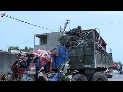 Tai nạn giao thông trên quốc lộ 1A đoạn qua xã Hải Châu, huyện Tĩnh Gia.
