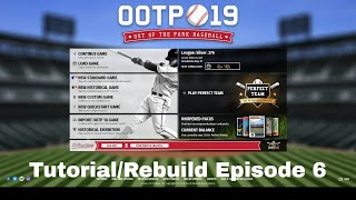 Out of the Park Baseball Tutorial/Rebuild Episode 6 - The Draft Episode