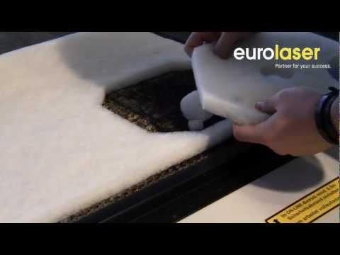 Fleece filter cut by laser - Filter-Vlies mit dem Laser geschnitten - eurolaser
