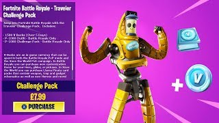 THE *NEW* P-1000 SKIN CHALLENGE PACK IN FORTNITE!!! (TRAVELER PACK)