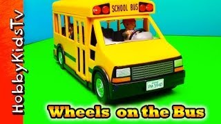 Wheels On The Bus ★ Song ★ Playmobil Bus Toy, Box Opening And Review