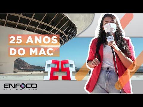 MAC - Aniversário de 25 anos do cartão postal de Niterói