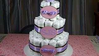 Baby Shower Small Diaper Cake