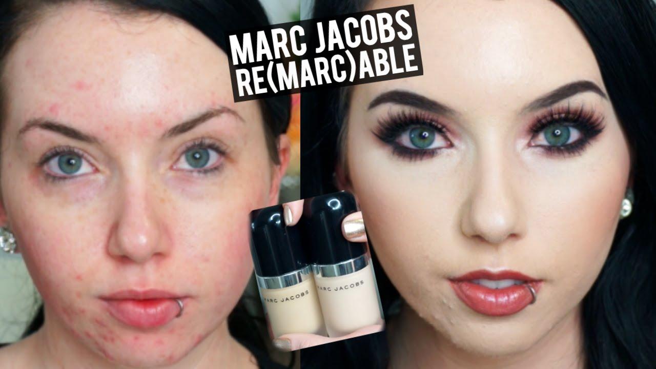Hasil gambar untuk marc jacobs remarcable foundation review