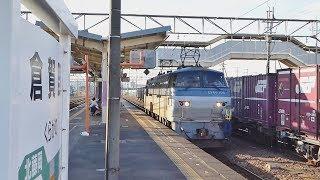 【EF65/EF66】高崎線 倉賀野 貨物列車 ⑯ 発車・入換【DE10】