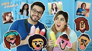 DIBUJANDO YOUTUBERS (TÉCNICAS PRO) | GRIS Y CHARLY