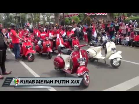 KIRAB MERAH PUTIH XIX VAC ( Vespa Antique Club Indonesia)