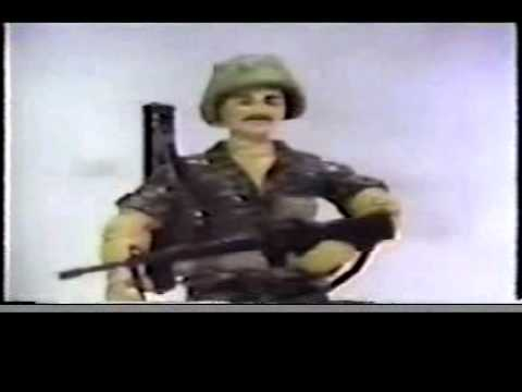 GI JOE 1985 Toy Commercial Footloose, Flint, Bazooka, Cobra Flight Pod, Silver Mirage