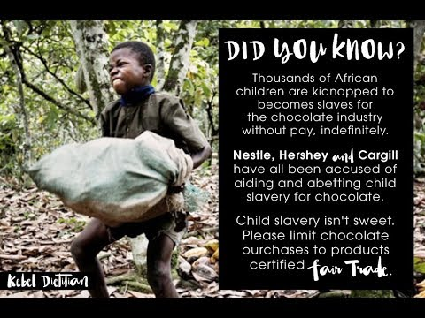 Your Chocolate Pleasure Supports Child Slavery - YouTube