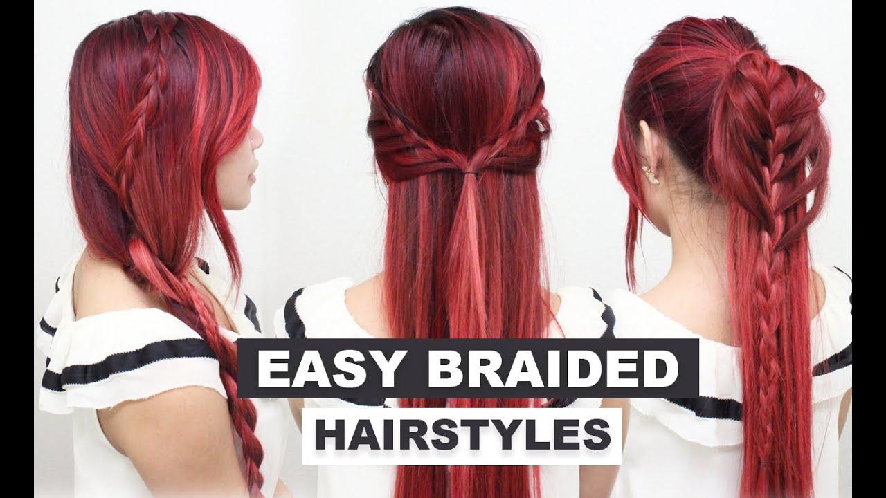4 easy braided hairstyles l heatless