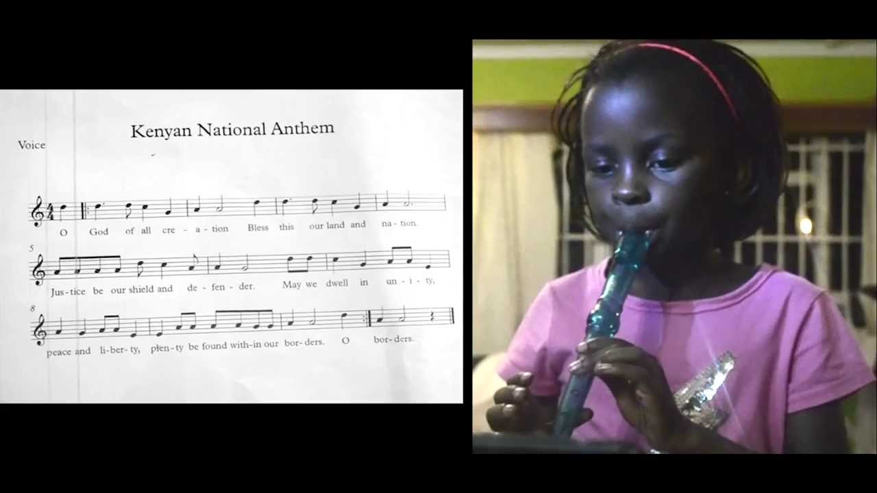 Caleo Plays Kenyan National Anthem on Recorder - YouTube