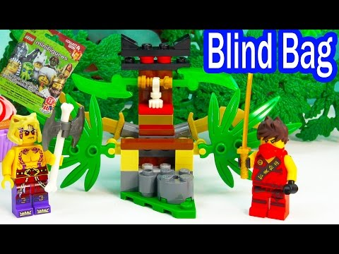 Blind Bag Ninjago Ninja Kai Playset Surprise Mystery Toy Unboxing Playing Video Review Cookieswirlc
