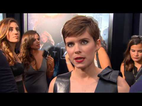 """The Fantastic Four: Kate Mara """"Sue Storm"""" NYC Movie Premiere Interview"""