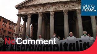 No Comment : manifestation du secteur hôtelier à Rome
