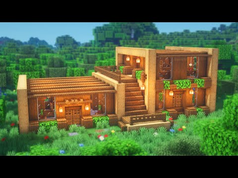 Minecraft: How To Build A Wooden House   Simple Survival House Tutorial