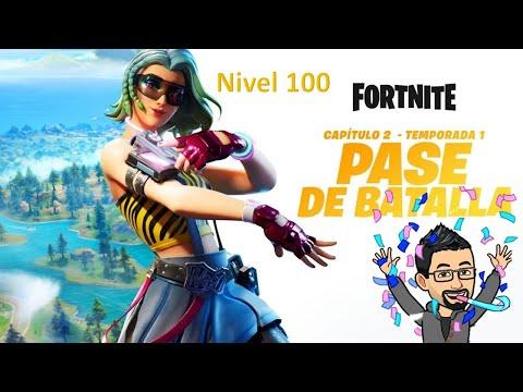 Download Fortnite nivel 100 del pase en mi 2da cuenta español Chile